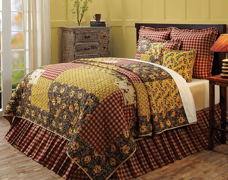 the country porch features the cambrie lane quilt and bedding accessories from victorian heart - Gotische Himmelbettvorhnge