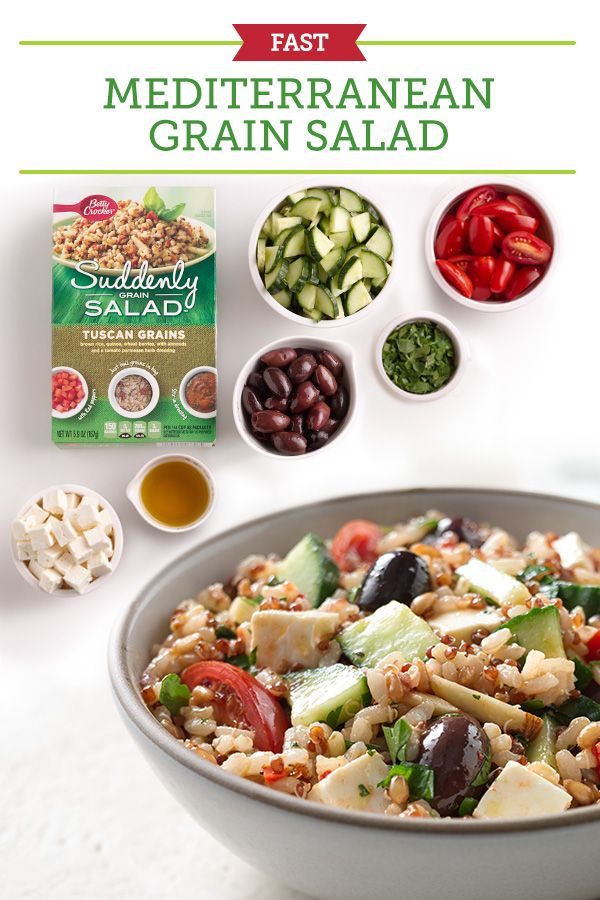 Mediterranean Grain Salad Recipe — Dishmaps