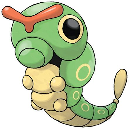 Pokédex entry for #10 Caterpie containing stats, moves ...