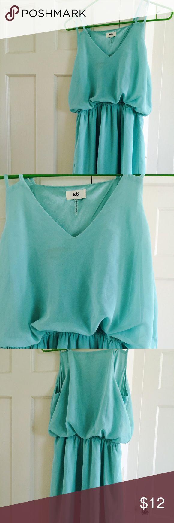 Tobi dress Aqua color dress from Tobi -like new condition Tobi Dresses Mini