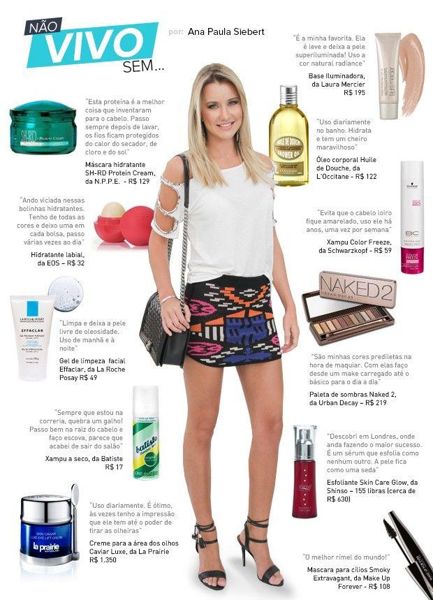 Do baratinho ao luxo: os produtos preferidos de Ana Paula Siebert