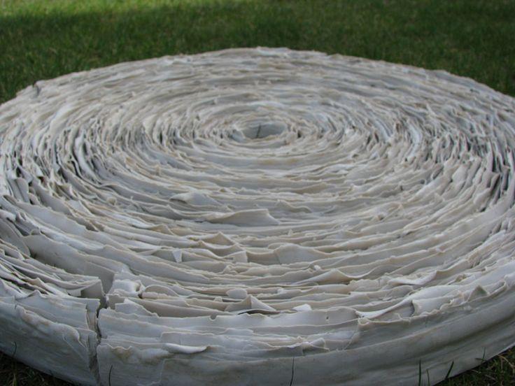 Anna Klimešová, Annual Rings, 2007, diameter 64 cm #clay #sculpture #ring #annualring