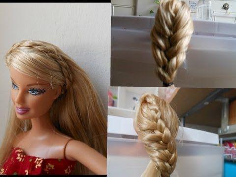 how to make doll hairstyle 2 (braid) stuff - YouTube