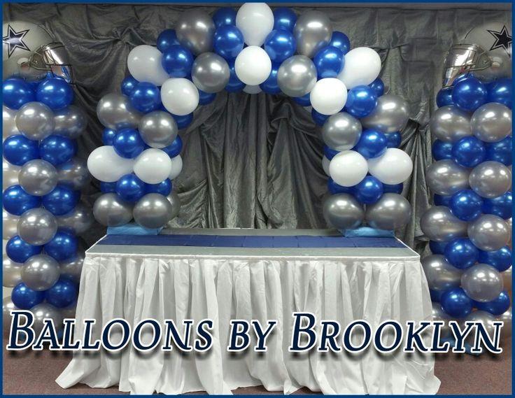 Dallas Cowboys Cake Table Set Up Balloons By Brooklyn