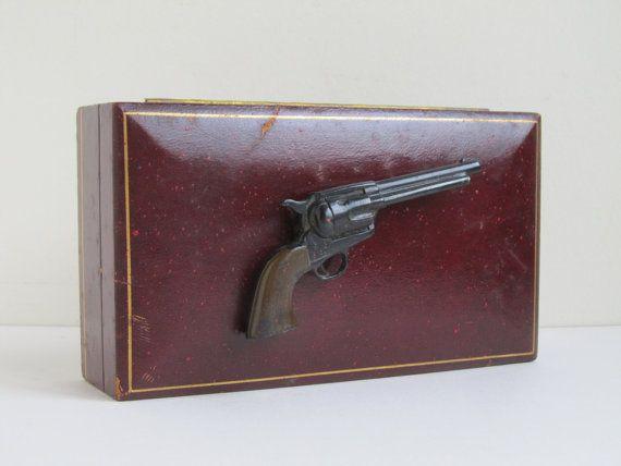 Vintage cigarette box smoking gun tobacco by 1000CrowsVintage
