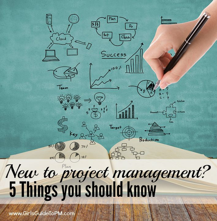 5 things you should know if you are just starting out managing projects at work. Tips are also good for managing home-based projects!