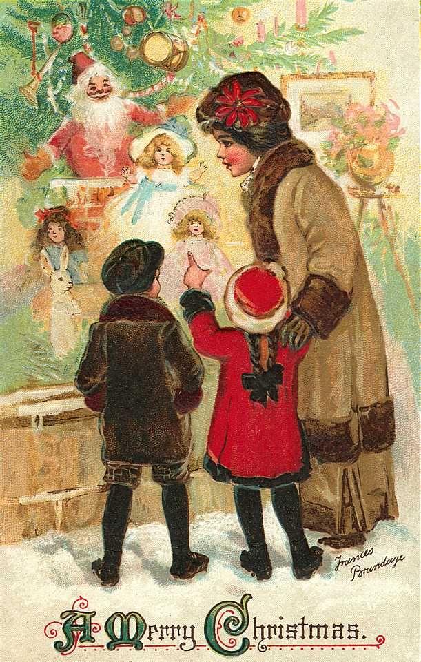 Christmas Toys Cards : Edwardian christmas card happy pinterest