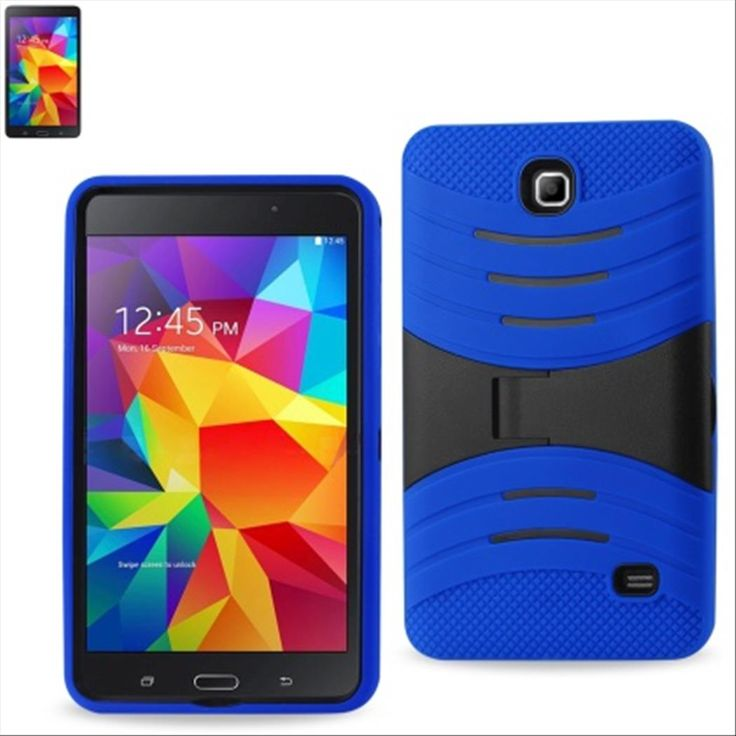 SAMSUNG GALAXY TAB 4 7.0″ CASE, HYBRID PROTECTIVE COVER W/ STAND (NAVY)   #tabletgadgets #tabletaccessories   www.kuteckusa.com.