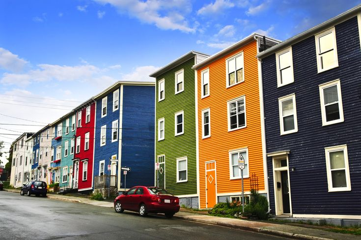 St. Johns, Newfoundland, Canada - featured as one of The 24 Most Colorful Cities In The World.   (via @BuzzFeed)