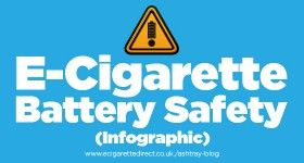 The 10 Rules of E-Cig Battery Safety - in infographic form!  #vaping #ecigs #ecigarette #battery #safety