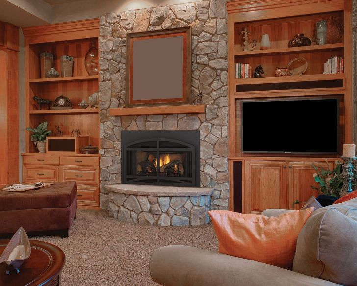 Best 25 contemporary gas fireplace ideas on pinterest for Contemporary wood fireplace insert