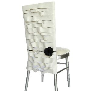 Wildflower Linen Chair Cover Parisian White Leather With Black Floral Accent Noir
