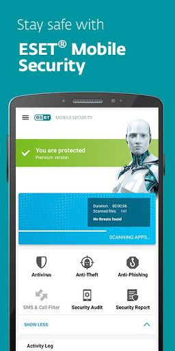 ESET Mobile Security and Antivirus PREMIUM v4.0.18.0  Key  ESET Mobile Security and Antivirus PREMIUM v4.0.18.0  Key  Prerequisites: 4.0 and up  Diagram: ESET Mobile Security is a premium digital security arrangement that ensures your cell phone and tablet.  1--TGjFb9V_veaqZwKU  Subsequent to introducing you consequently get the chance to attempt every single PREMIUM component for 30 days  without buying in. At that point you can move up to PREMIUM or proceed with essential insurance which…