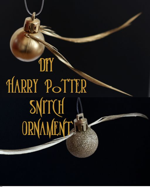 Harry Potter Golden Snitch Ornament Christmas Trees