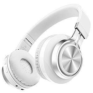 Darkiron Wireless Bluetooth Headphones with Built-in Microphone, Foldable, Creative and Best Bluetooth Headsets Over-Ear , Support TF Card & FM Radio with Extra Audio Cable for Most Smart phones, iphone, Laptop, TV and Other Bluetooth 4.0 Devices (White) - Amazon - £16