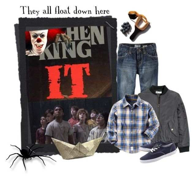 """It - Stephen King"" by montse-gallardo ❤ liked on Polyvore featuring KING, H&M, Keds, men's fashion and menswear"