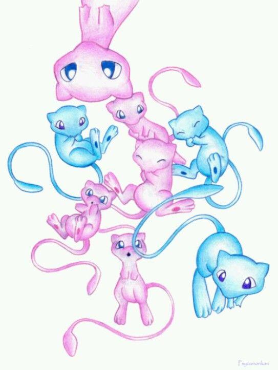 Best 25 shiny mew ideas on pinterest how to catch mew evolutions of eevee and pokemon umbreon - Evolution mew ...