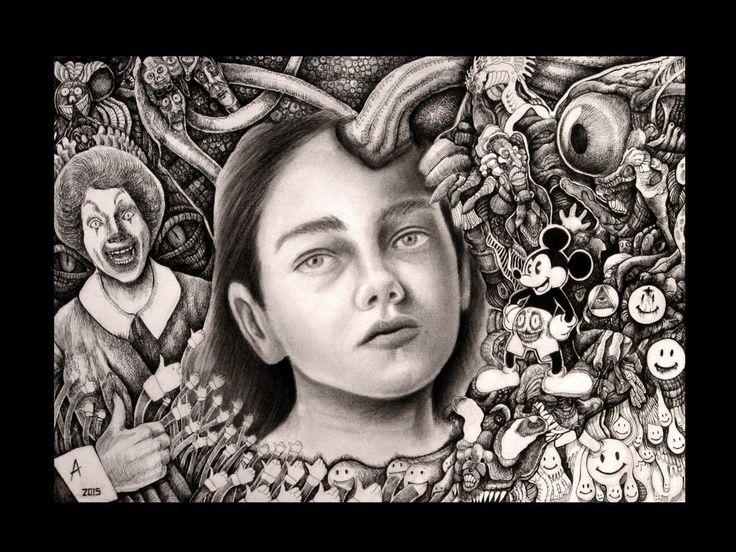 Ariel Guerra | tsū ''II'' Técnica mixta sobre papel. #drawing #portrait #blackandwhite #A