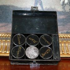 Antique Victorian Spice Box Tin Nutmeg Grater Chest 19thC Set Herb Cooking Tools