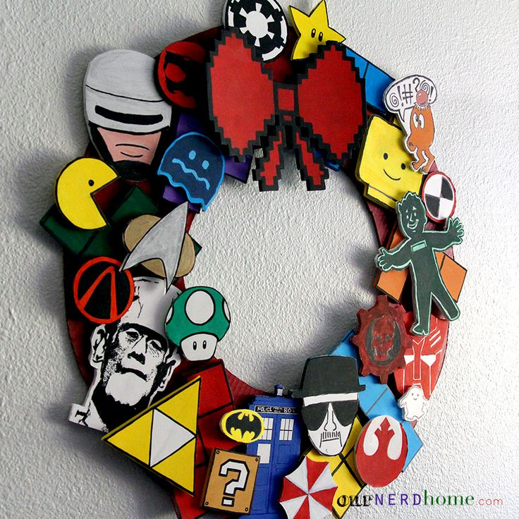 DIY Geek Decor: Ultimate Fandom Holiday Wreath - Our Nerd Home