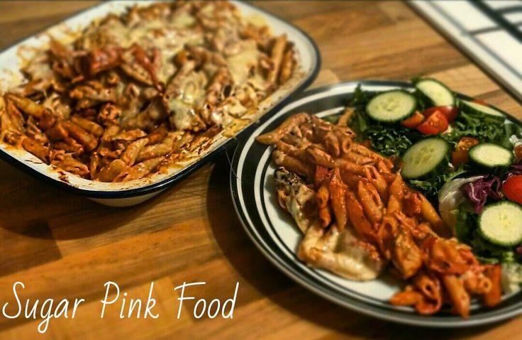 Sugar Pink Food: Slimming World Recipe:- BBQ Chicken Pasta Melt