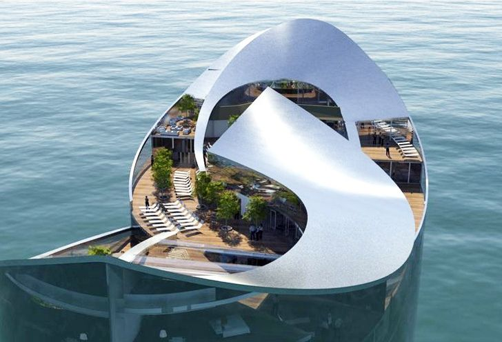 Qatar Unveils Luxurious Off-Grid Floating Hotels for 2022 World Cup Floating Hotel in Qatar by Sigge Architects – Inhabitat - Green Design, Innovation, Architecture, Green Building