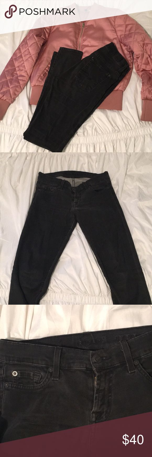 Grey SEVENS jeans✨ Dark Grey SEVENS jeans, super stretchy! They're on the low rise type of fit. Size 26 (Listed as UO for exposure) Urban Outfitters Jeans Skinny