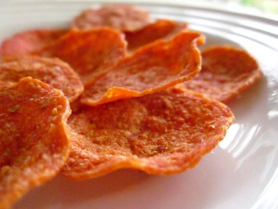 Pepperoni Chips Recipe | A wonderful go-to crunchy low carb snack
