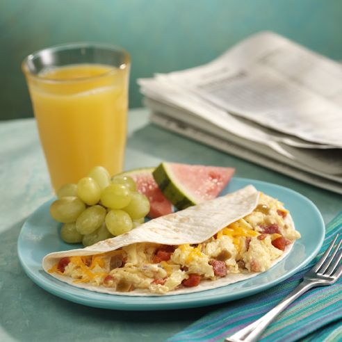ROTEL Ranchero Scrambled Eggs Recipe: Breakfast seasoned, scrambled and with a little southwestern kick!