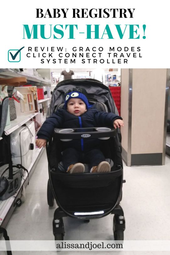 The Graco Modes Click Connect Travel System Stroller is the best single stroller! I highly recommend it as a baby registry/baby shower must-have/essential. Read my post to find out why.