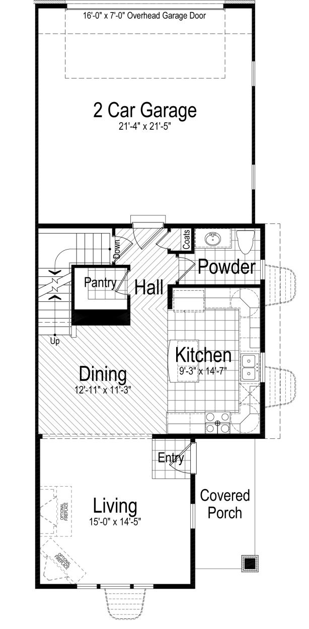 Bainbridge Ivory Homes Townhome Floor Plan   Main Level