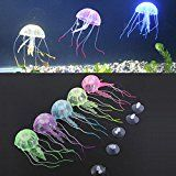 5 x Jelly Fish Aquarium Silicone Artificial Decorations Fish Tank Ornament
