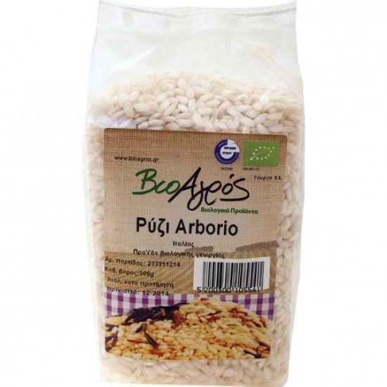 biotrofi.gr- Βιολογικό ρύζι αρμπόριο 500γρ Βιοαγρός