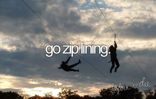 go zip lining...gonna do this!