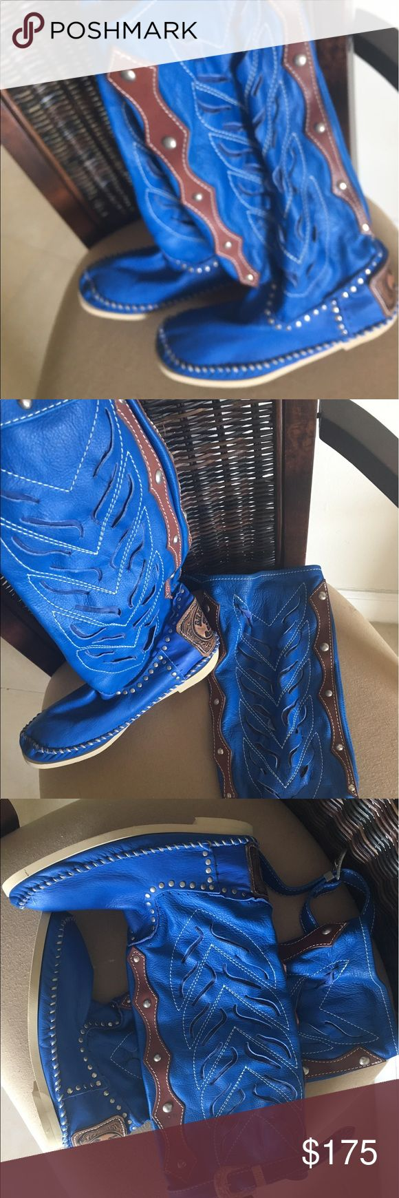 New Hector Riccione Leather made in Italy boots Brand new Hector Riccione Original Collection. Hand made in Italy. Very comfortable unique, trendy, stylish. Made with Best soft leather ! Shoes Moccasins