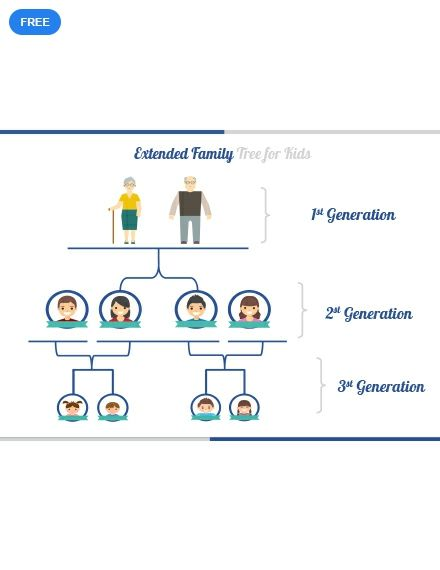Free Extended Family Tree For Kids Family Tree Templates