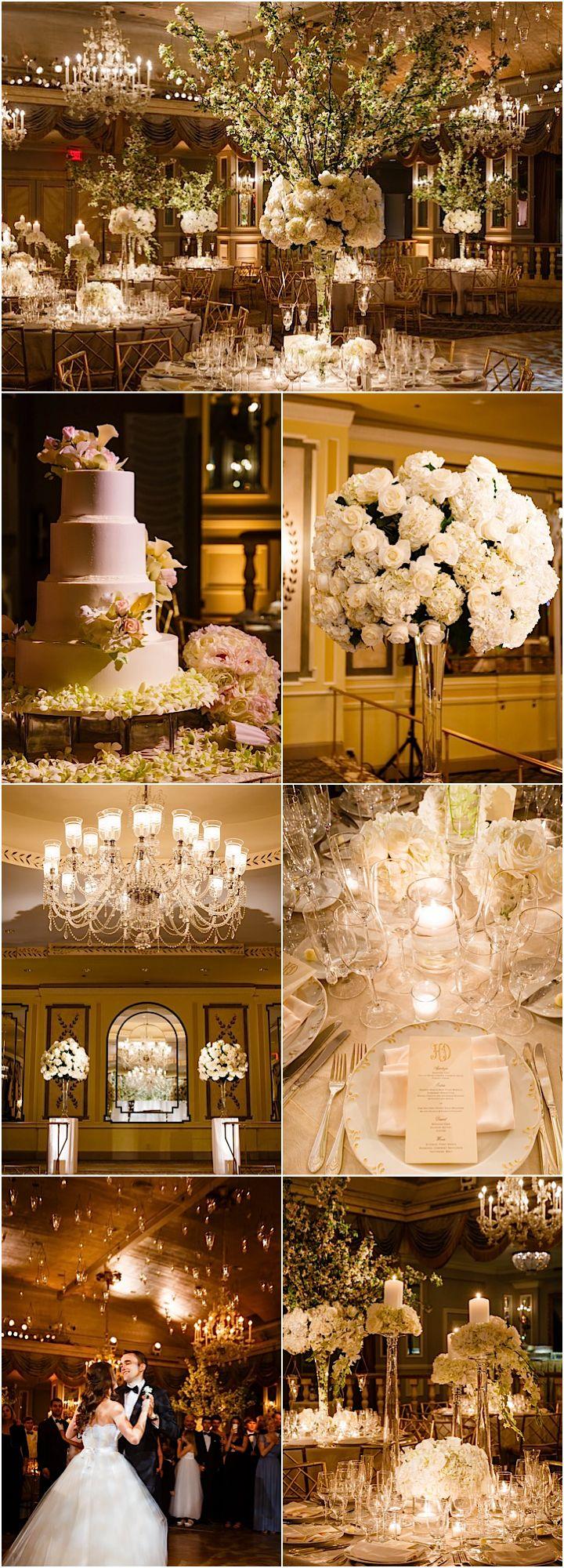 Featured Photographer: Brian Dorsey Studios; gorgeous ballroom wedding reception and ceremony