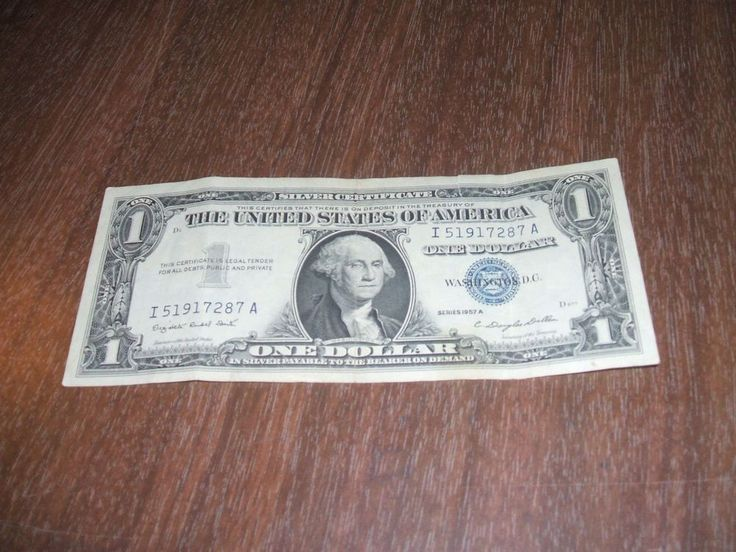 US CURRENCY, 1957A, $1.00, SILVER CERTIFICATE
