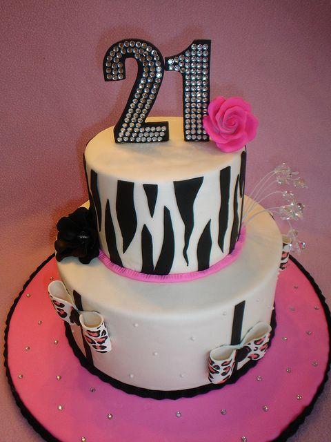 21st Birthday Bling By Valscustomcakes Via Flickr
