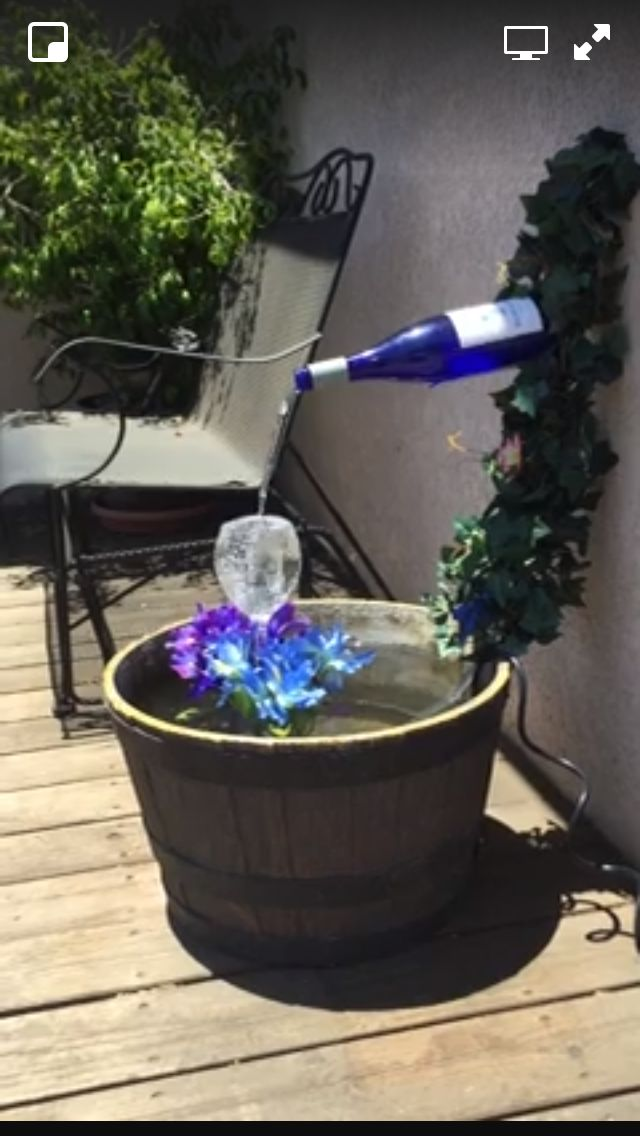 59 Best Wine Fountains Barrel And Bottle Images On Pinterest Backyard Ideas Gardening And