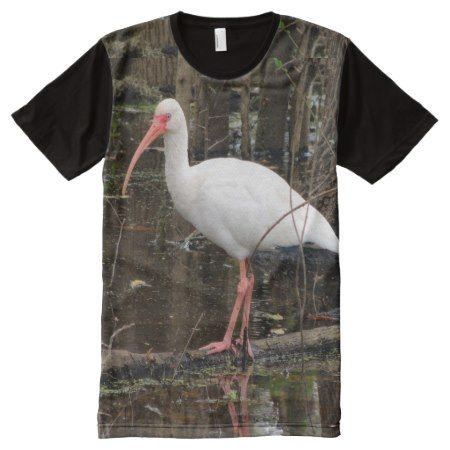 White Ibis Water Bird All-Over Print T-Shirt - click/tap to personalize and buy