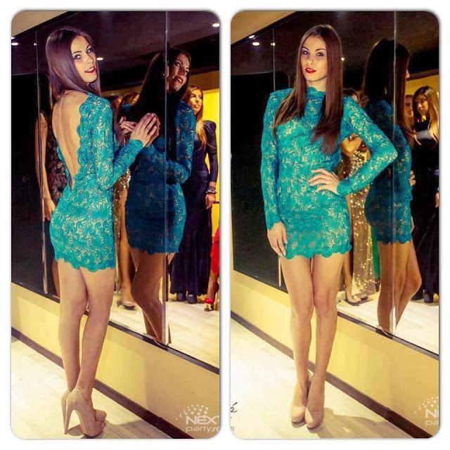 How to Chic: GREEN LACE DRESS
