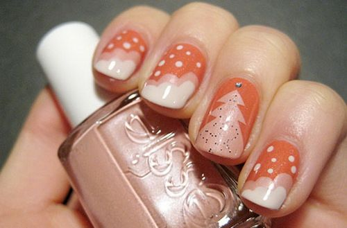 Imagen de nails, christmas, pink, christmas tree, love and nail art