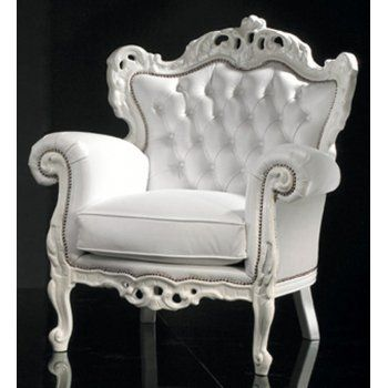 Baroque-silver-upholster chair