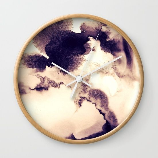 Coffee Cloudscape Wall Clock