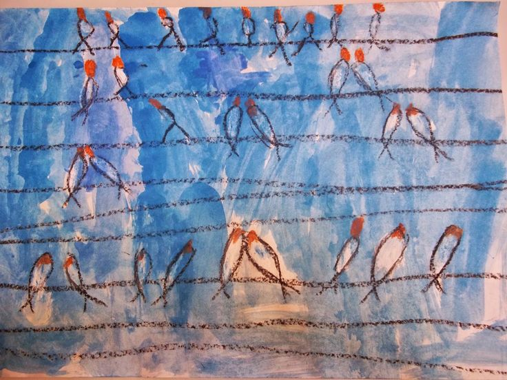 Παρέα με τους ζωγράφους: Χελιδόνια. Μίνα Παπαθεοδώρου-Βαλυράκη
