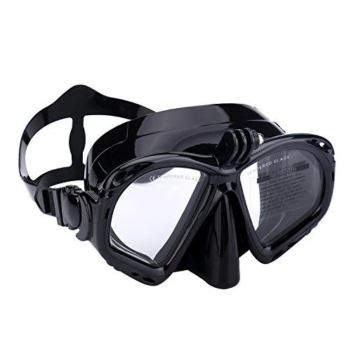 From 15.00 Supertrip Premium Snorkel Diving Mask Snorkeling Diving Swimming Goggles Mask Dry Snorkel Set With Camera Mount (black)