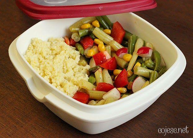 Lunchbox #1: Sałatka z kaszą jaglaną i fasolką szparagową | Zdrowe Przepisy Pauliny Styś
