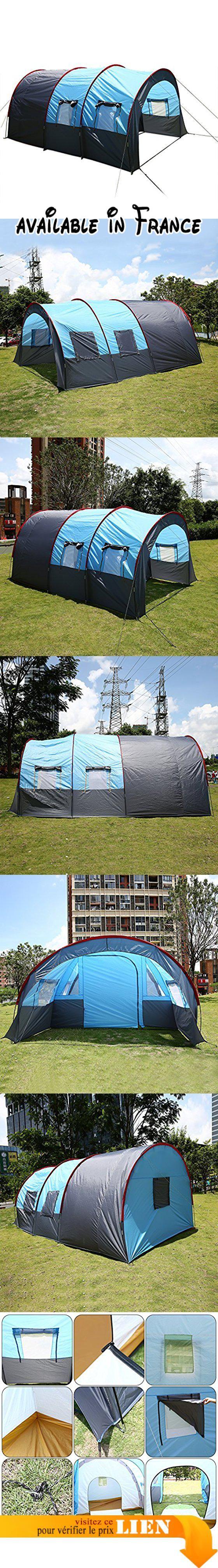 B075S19K2M : Busyall Tente de Camping Familiale Tente Tunnel 3 places - 480 x 310 x 210 cm  5 à 8 Personnes (EU Stock). Il sera envoyé de notre stockage EU envoyez bientôt. Si vous rencontrez un problème ou un doute au sujet de l'expédition et du produit veuillez nous contracter dabord nous vous répondrons dans 24 heures. ESPACE La tente tunnel est votre espace de confort sur la place de camping. Son intérieur spacieux offre non seulement 3 places à dormir