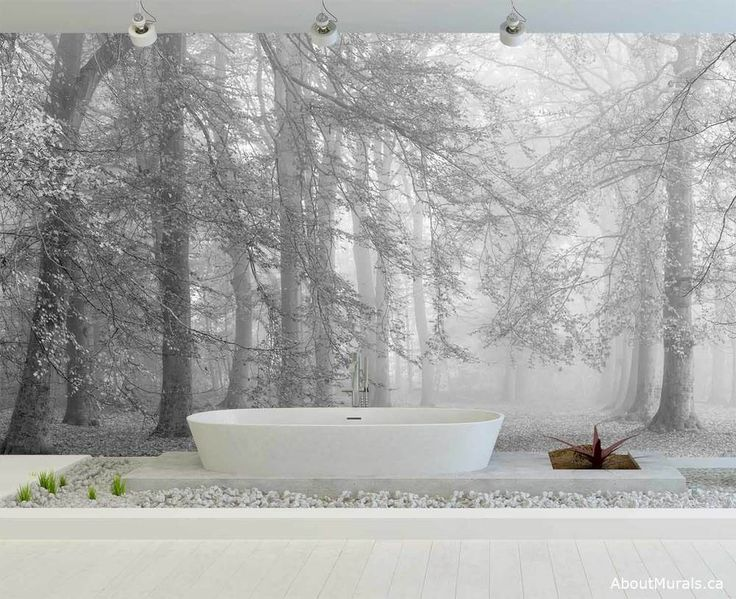 This black and white tree mural will sweep you away with its dreamy - almost magical - forest. Surround your bathroom in the beauty of nature.